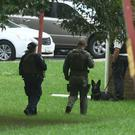 Authorities respond to a shooting in Maryland (Jerry Jackson/AP)