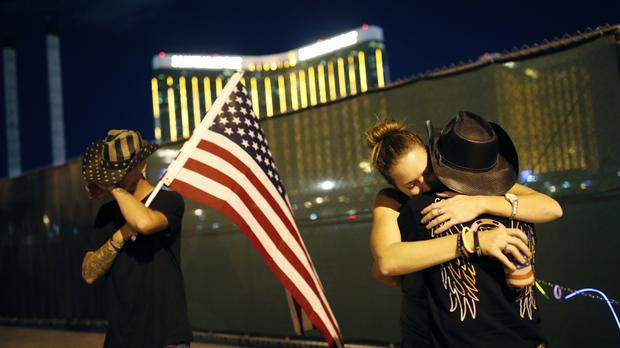 Lights dimmed on Las Vegas Strip in honour of mass shooting victims