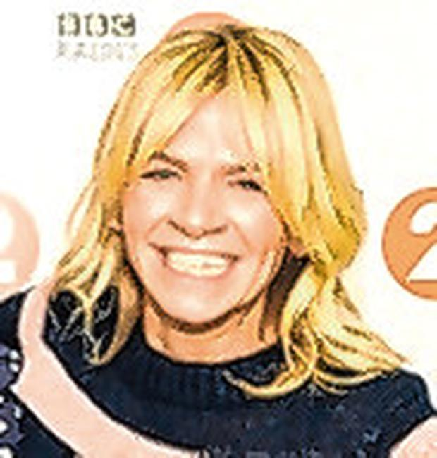 Thrilled: Zoe Ball will be the first woman to host the Breakfast show. Photo: PA