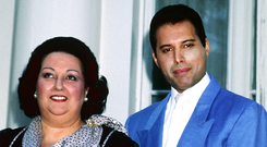 ONE OF THE GREATS: Montserrat Caballe with Freddie Mercury