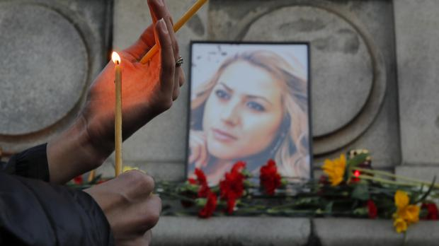 A vigil for Viktoria Marinova (AP Photo/Vadim Ghirda)