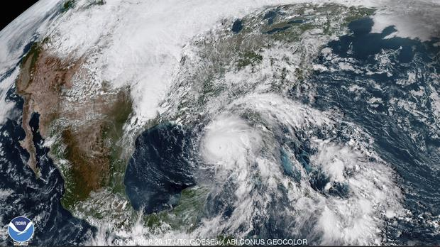 Hurricane Michael in the Gulf of Mexico (NOAA via AP)