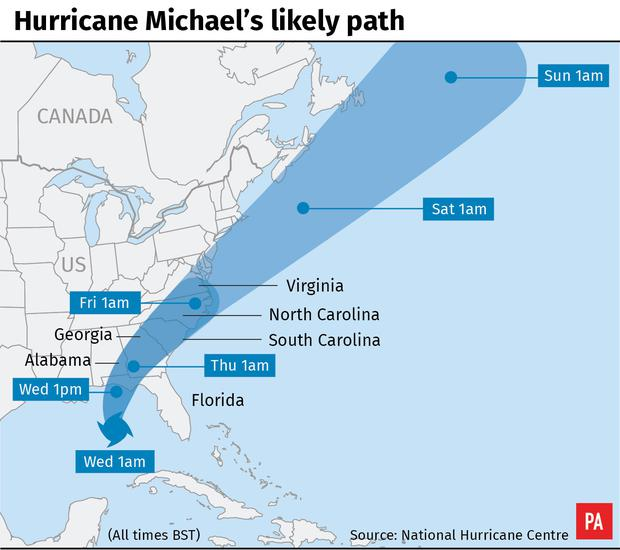 Hurricane Michael grows stronger on way to Florida