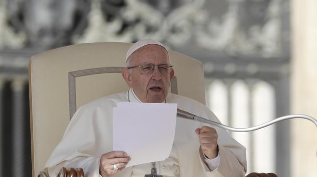 Pope Francis delivers his message on abortion (Gregorio Borgia/AP)