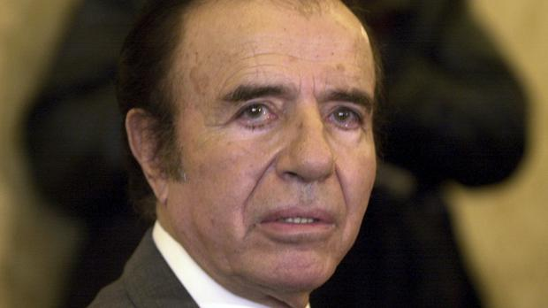 Carlos Menem is currently a senator and that status protects him from being arrested (Santiago Llanquin/AP)
