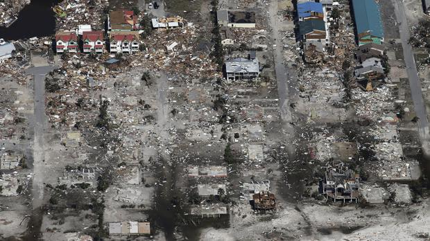 An entire neighbourhood in Mexico Beach was wiped out (Michael Snyder/Northwest Florida Daily News via AP)