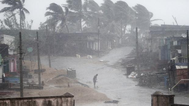 Rain and strong winds caused by a cyclonic storm named Titli (AP)
