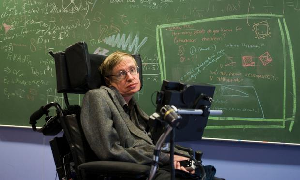 Stephen Hawking: 'Remember to look up at the stars, not down at your feet'