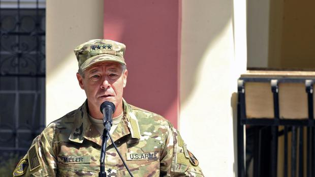 US Army Gen. Scott Miller, commander of U.S. and Nato troops escaped the attack (Sharida Jackson/AP)