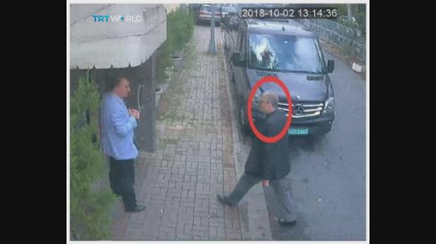 Jamal Khashoggi has not been seen since he entered the Saudi consulate in Istanbul on Tuesday October 2 (CCTV/TRT World/AP)