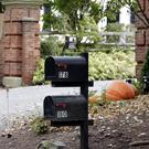Post boxes stand outside the entrance to a house owned by philanthropist George Soros (Seth Wenig/AP)