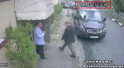 CCTV of Jamal Khashoggi entering the Saudi consulate in Istanbul (CCTV/Hurriyet/AP)