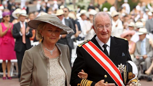 King Albert II and Queen Paola of Belgium (Dominic Lipinski/PA)