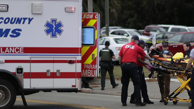 The scene of the shooting (Tori Schneider/Tallahassee Democrat via AP)