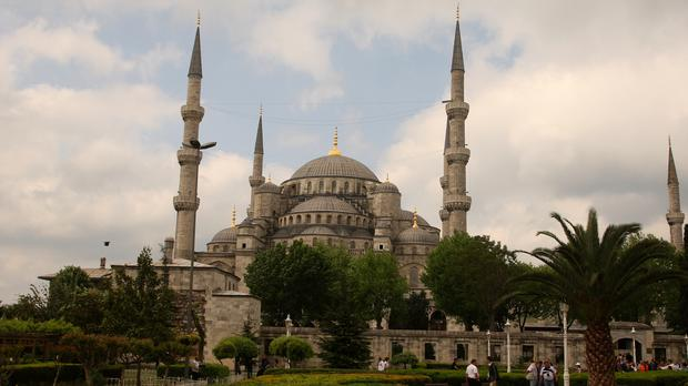 A general view of the Blue Mosque in Istanbul, Turkey (Peter Byrne/PA)