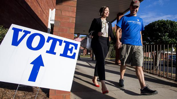 People have been voting in the midterms (Mickey Welsh/AP)