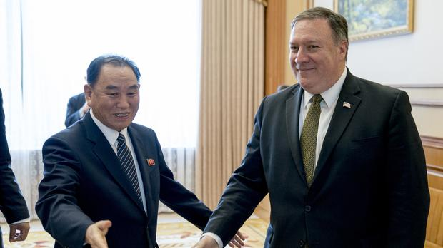 Kim Yong Chol's meeting with US Secretary of State Mike Pompeo has been delayed (Andrew Harnik/AP)