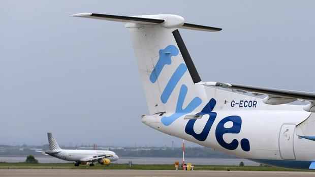Forty-four passengers and four crew were on board the flight from Belfast City Airport to Glasgow Airport. Stock image