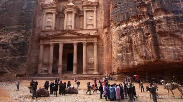 Jordan's most famous archaeological monument in Petra (Sam McNeil/AP)