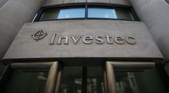 Accounts for the last financial year show Investec Ireland notched up annual revenues of over €80m at the end of March, rising from close to €70m in 2016. Photo: Philip Toscano/PA