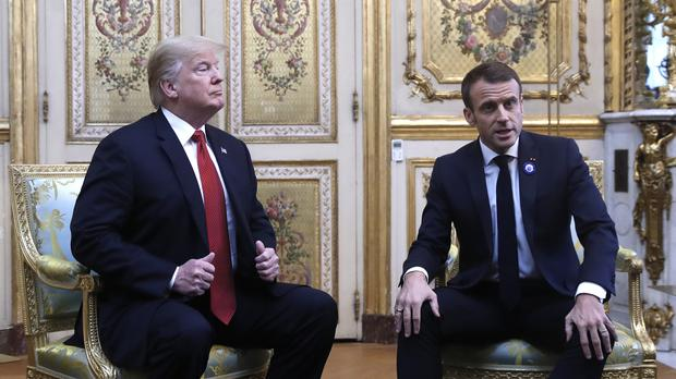 President Donald Trump meets with French President Emmanuel Macron (Jacquelyn Martin/AP)