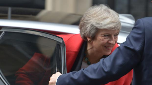 Prime Minister Theresa May returns to 10 Downing Street following her statement in the House of Commons, London.