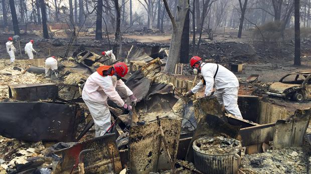 Number of people missing in California wildfire rises to
