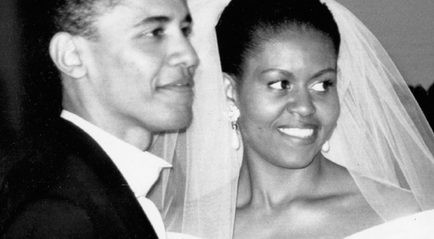 For a while, Barack and I lived in the second-floor apartment on Euclid Avenue where I'd been raised. We were both young lawyers then. I was beginning to question my professional path, wondering how to do meaningful work and stay true to my values. Credit: Courtesy of the Obama-Robinson Archive