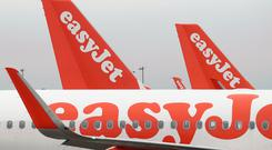 EasyJet shares have fallen by more than a third over the past six months (Gareth Fuller/PA)