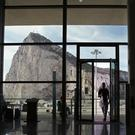 The Rock of Gibraltar viewed from the departure lounge of Gibraltar Airport (Yui Mok/PA)