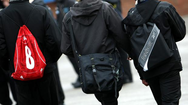 The government has issued weight guidelines for school bags depending on a child's age. Stock picture