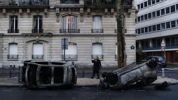 The aftermath of the rioting in Paris (AP)