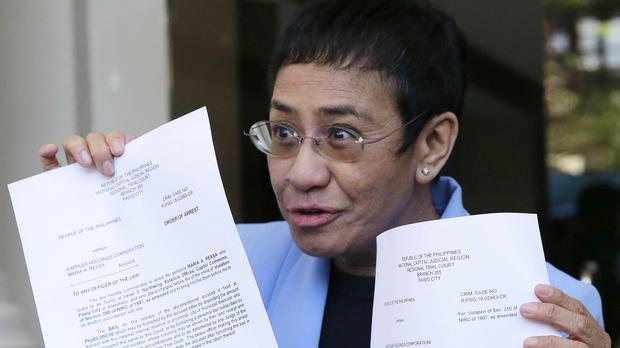 Maria Ressa, CEO of Rappler (AP)