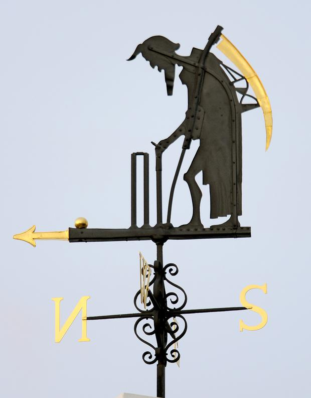 The Old Father Time weathervane at Lord's cricket ground (Anthony Devlin/PA)