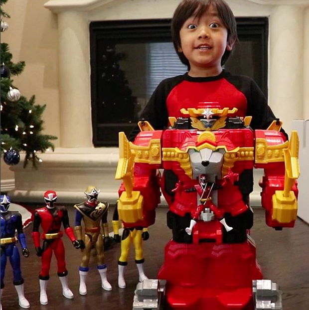 Forbes' top-earning YouTuber is a seven-year-old vlogger reviewing toys
