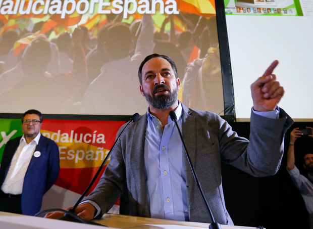 'Led debate': Far-right Vox party leader Santiago Abascal Photo: Reuters