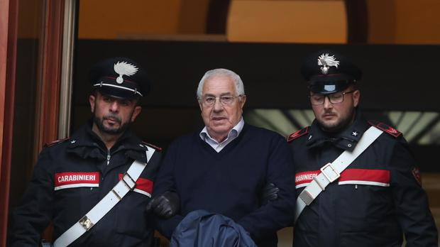 Settimo Mineo allegedly took over as the Palermo head of Cosa Nostra (Igor Petyx/ANSA via AP)