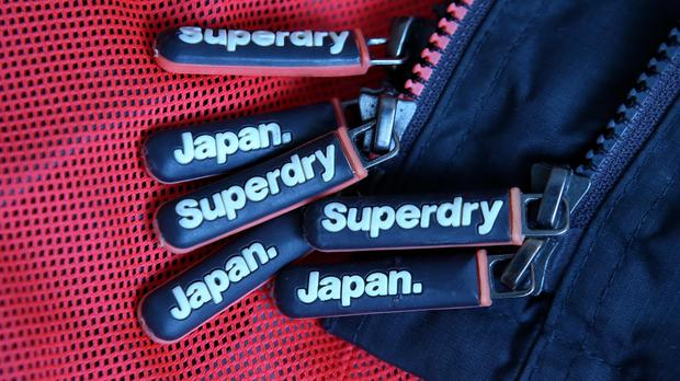 A close-up of Superdry branded clothing (PA)