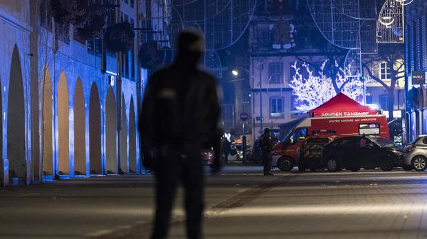Police are searching for the suspect (Jean-Francois Badias/AP)
