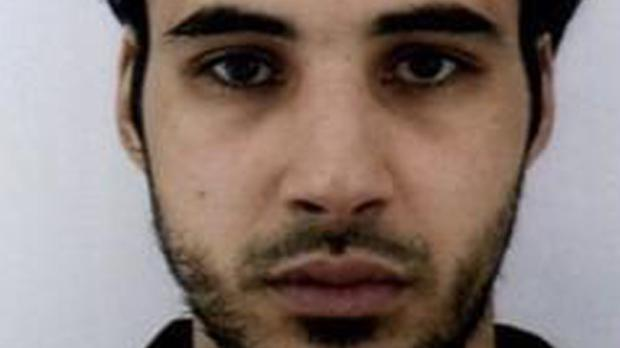 Cherif Chekatt is on the run after the shooting in Strasbourg (French police/AP)
