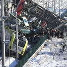 Ankara train accident. (AP Photo/Burhan Ozbilici)