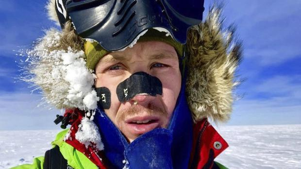 Colin O'Brady became the first person to traverse Antarctica alone without any assistance (Colin O'Brady via AP)