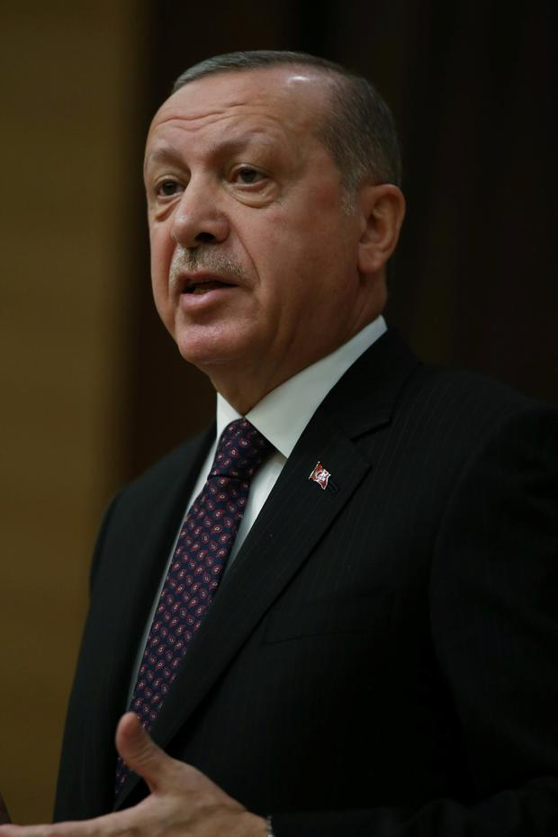 Erdogan: Reacted angrily to suggestions US troop withdrawals were conditional on safeguards for Kurdish fighters