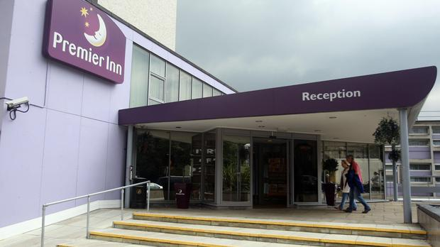 General view of a Premier Inn, part of Whitbread PLC stable.