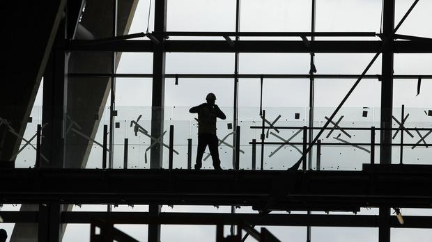 A construction worker (Peter Byrne/PA)