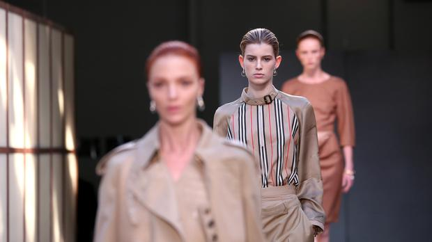 Luxury fashion brand Burberry has brushed aside fears of a slowdown in China as it reported a rise in festive sales (PA)