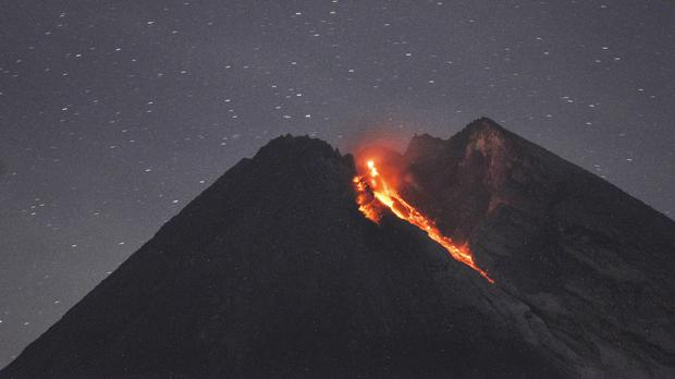 Mount Merapi spews volcanic material (AP Photo/Slamet Riyadi)