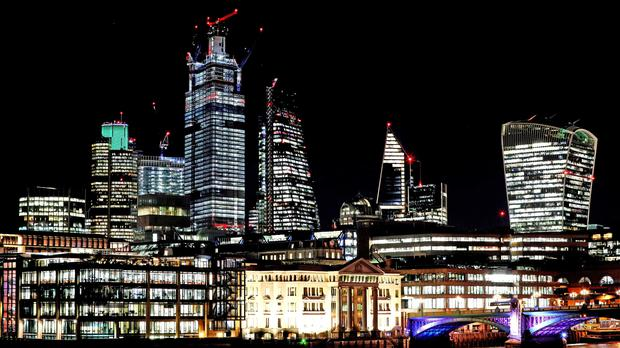 Stock image of the City of London skyline. (Jonathan Brady/PA)