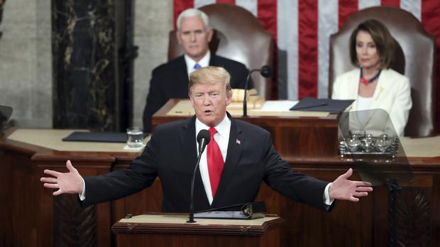 President Donald Trump delivers his State of the Union address (AP Photo/Andrew Harnik)