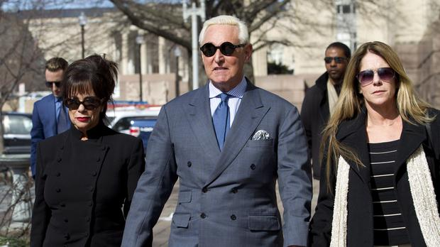 Former campaign adviser for President Donald Trump Roger Stone (Jose Luis Magana/AP)